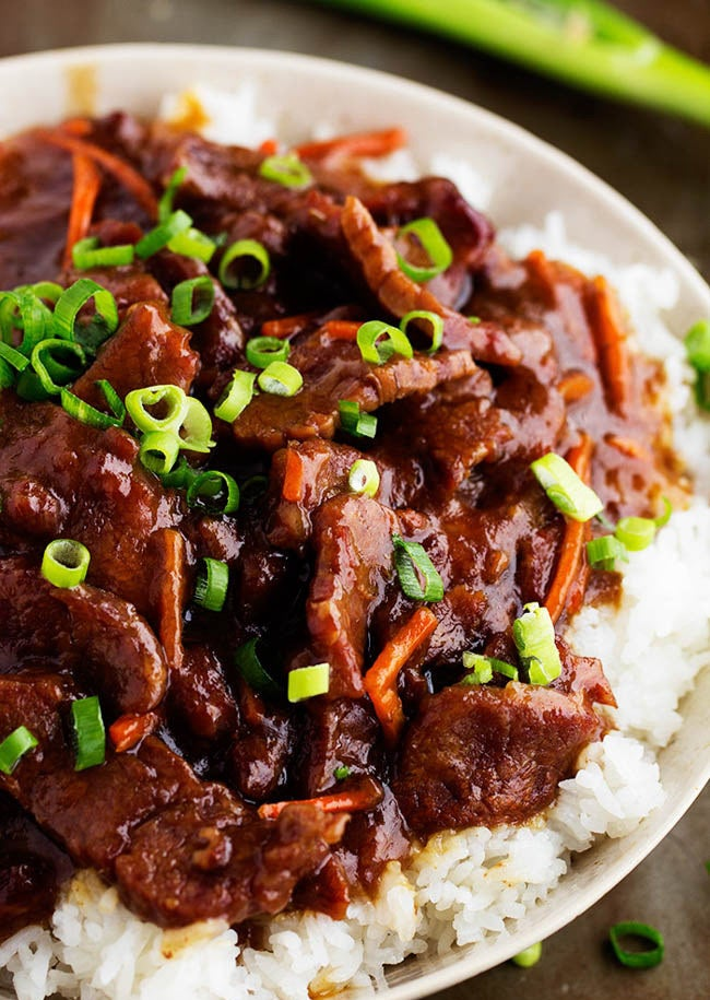Put down the delivery menu. You can make this beef dish right in your kitchen with some basic ingredients like flank steak, brown sugar, soy sauce, and garlic. Get the recipe.