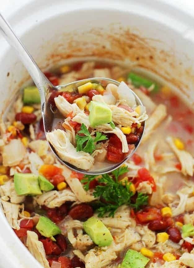 The perfect game day recipe, this chicken chili is made with corn, beans, diced tomatoes, green chiles, and loads of spices. Top it with your favorite Tex-Mex toppings like tortilla chips and sliced avocado. Get the recipe.
