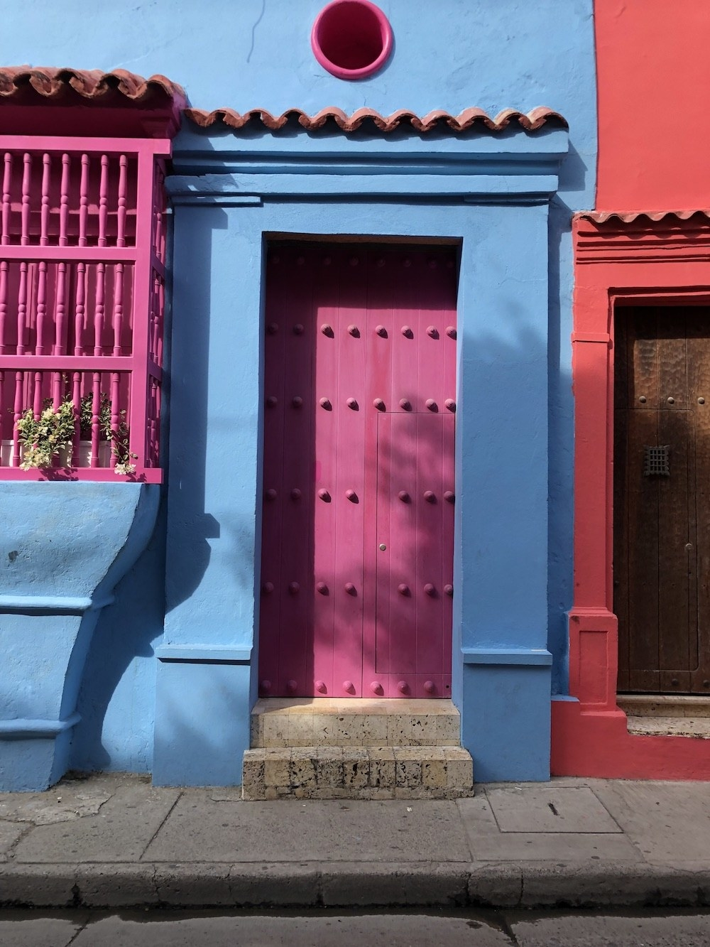 And colorful doors.
