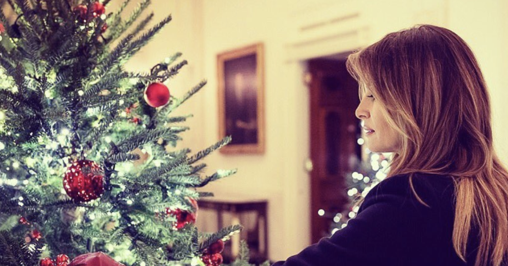 Bloody Christmas Tree.Melania Trump Has Responded To All The Jokes About Her