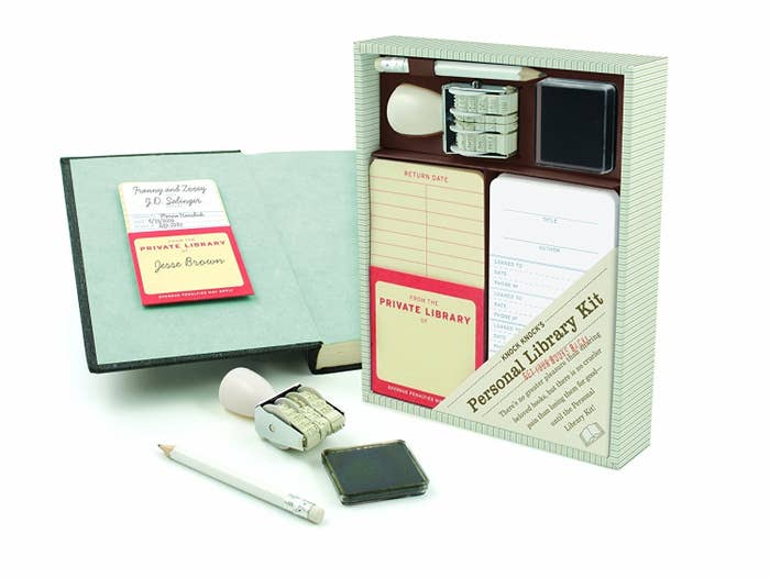 15a6fa64 A personal library kit for generous book-lenders who definitely want to get  their novels back. Using that stamp is going to be so satisfying, guys.