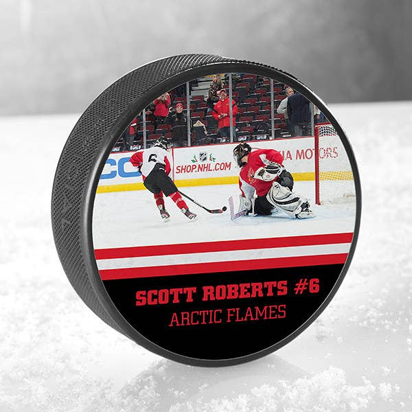 f7e54d706a An ~official~ size hockey puck your star player will make good use of on  the ice.