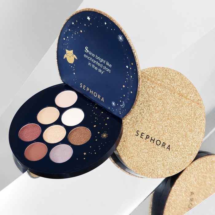 """It features eight matte and shimmer eyeshadows in easy-to-wear, neutral shades.Promising review: """"I was hesitant to buy another Sephora palette as the last one I bought was practically sidewalk chalk, but I am so glad I gave this one a chance! If you're looking for a travel-friendly palette that's good for smokey neutral looks then look no further. The colors are nicely buildable, the palette itself is light, and the glitter on the lid actually stays on the lid. I was worried about the colors being too warm, but this is nicely cool. The glitters definitely work better with a wet brush or fingers. The only problem I had was fallout, but just put some powder down first, and it'll sweep off nicely. For $10 this is a steal!"""" —AshaNotAshleyGet it from Sephora for $10."""