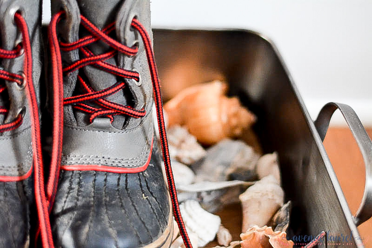 If you're not really into the seaside look, switch the shells out for pebbles. Both will allow the water to drain so the boots aren't soaking in a puddle of their own making. Learn more here.