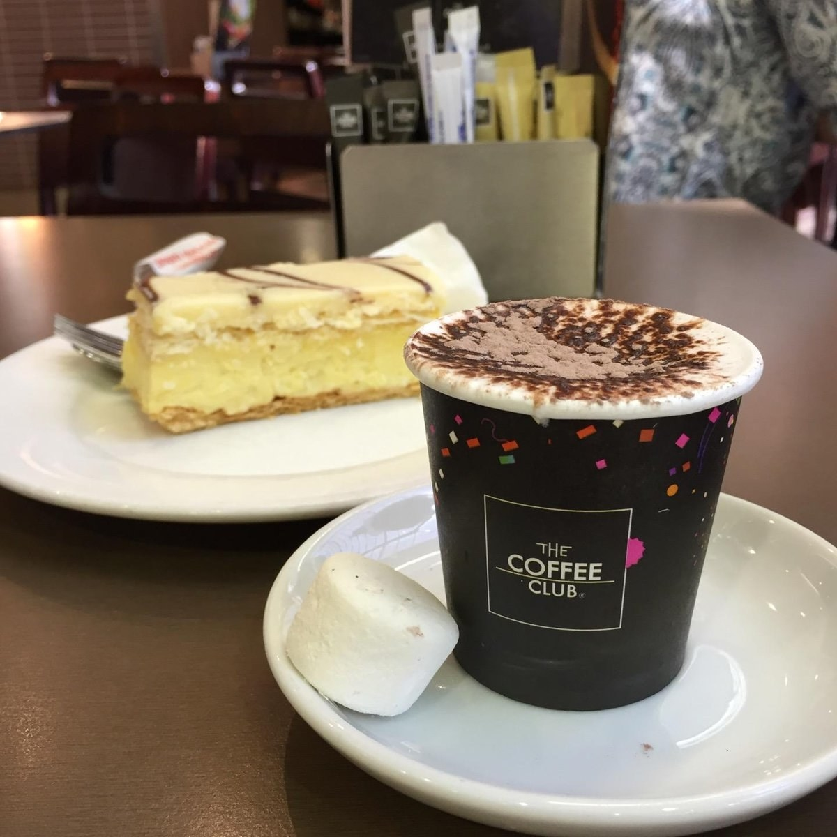 Christmas time means hanging out with the family, which means putting in quality time with Nan. And there's nothing grandmas love more than having a cappucino and sharing a vanilla slice down at the Coffee Club in the local shopping centre.