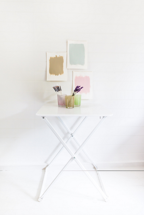 If you're one of those people who shifts their furniture every other day, a TV tray is perfect for your entryway. It's got enough room for you to toss your keys and mail on top, and your shoes underneath. Learn more here.