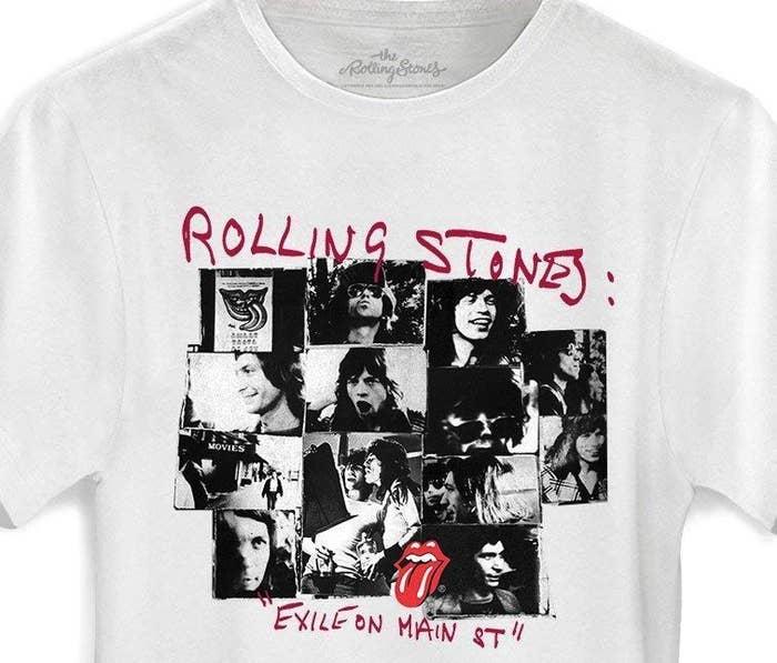 """Esta camiseta concorda que """"Exile on Main St"""" é o melhor disco dos Stones e se você discorda de nós duas você está apenas errado."""