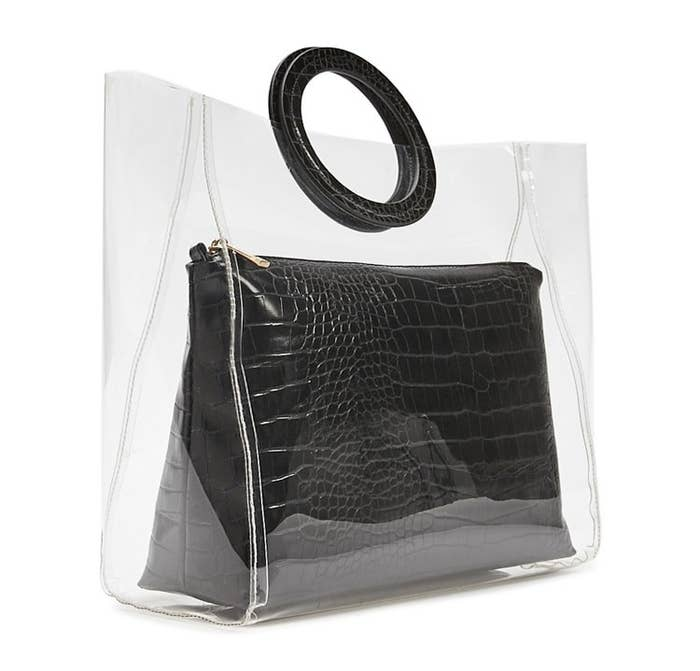 09d4f032c87b52 5. A two-in-one clear tote, because minimalism is in right now and you've  got to be on trend.