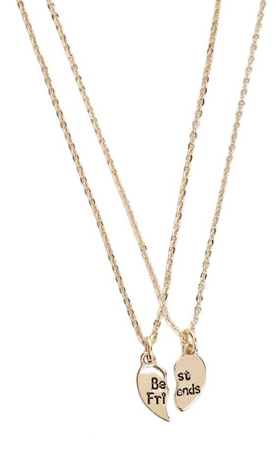 3b450fbd56 A classic broken-heart necklace set every pair of besties should get at  least once in their lives. Forever 21