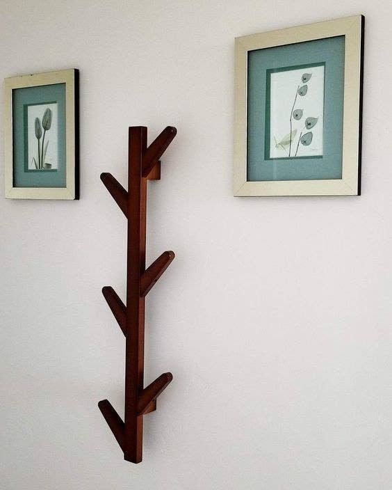 the brown bamboo tree branch-style rack