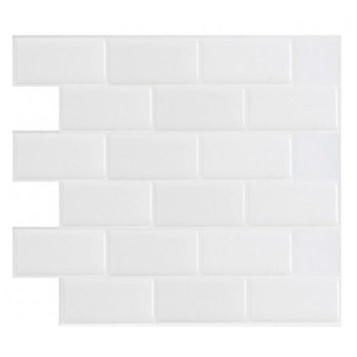 the peel-and-stick white tile