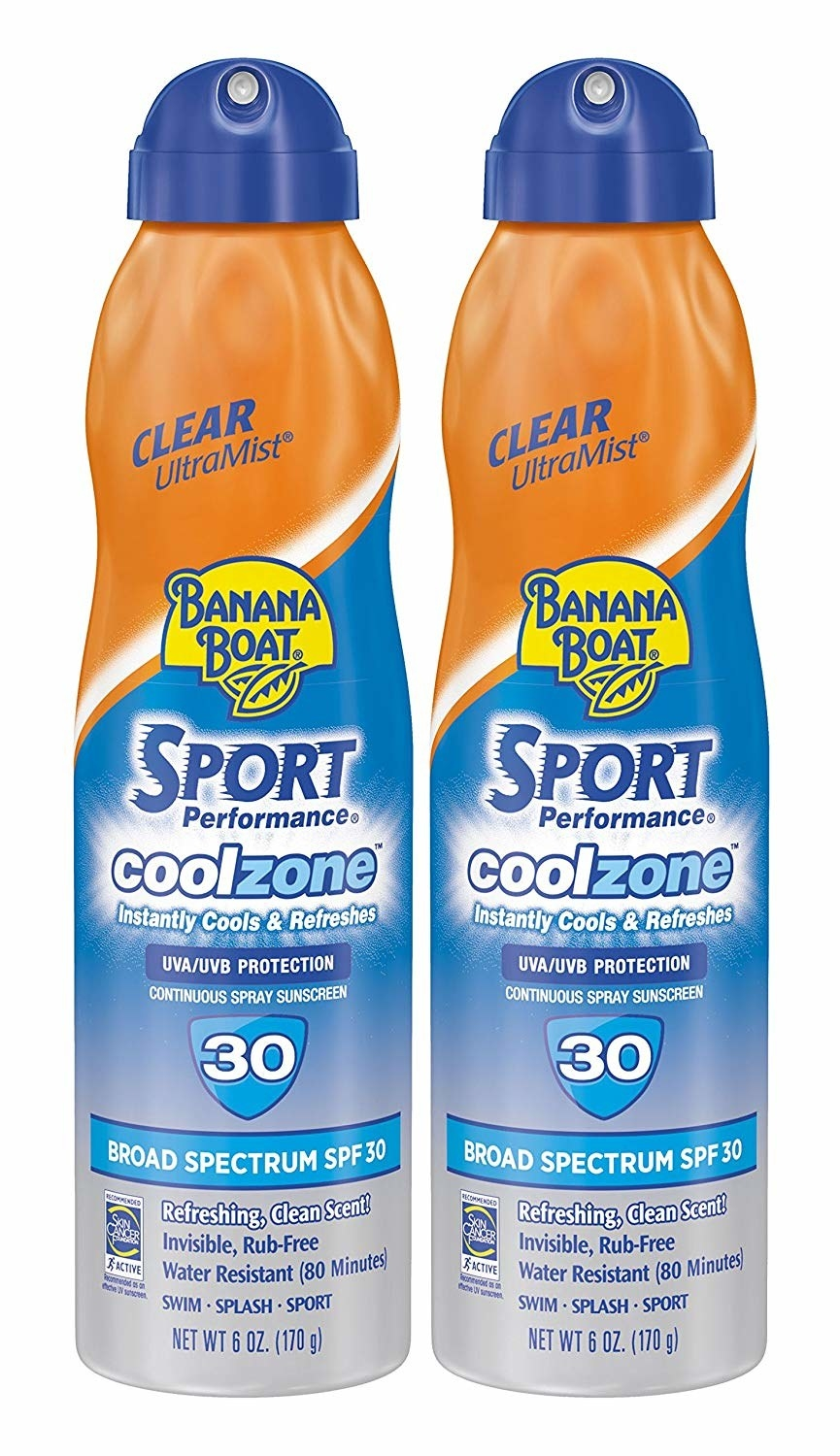 two bottles of the sunscreen