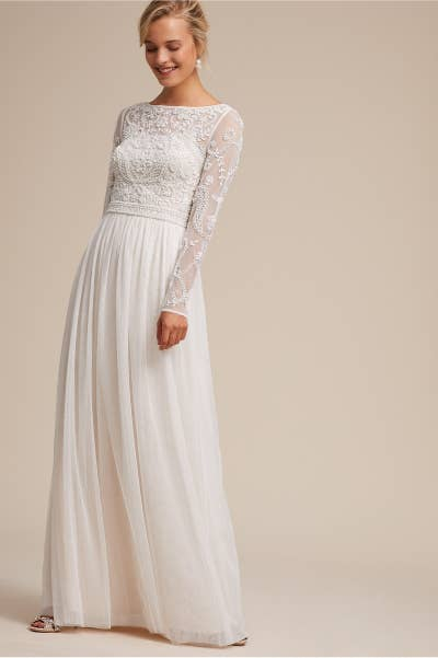 936d8ce01f A beaded beauty of a dress, perfect for a casual dinner reception or a  classy affair. BHLDN