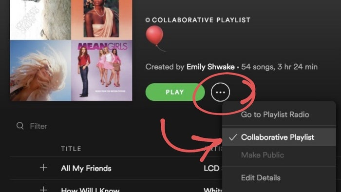 Just put 20-ish songs in the playlist and include the link in the invitation. Otherwise, your guests are going to be bothering you with song requests every five minutes. Everyone has different music taste so giving them the power to add their faves will ensure that all your guests have a great time.