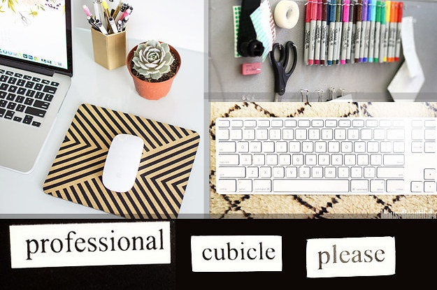 Diy office decorations Decorate Office Desk Buzzfeed 54 Ways To Make Your Cubicle Suck Less
