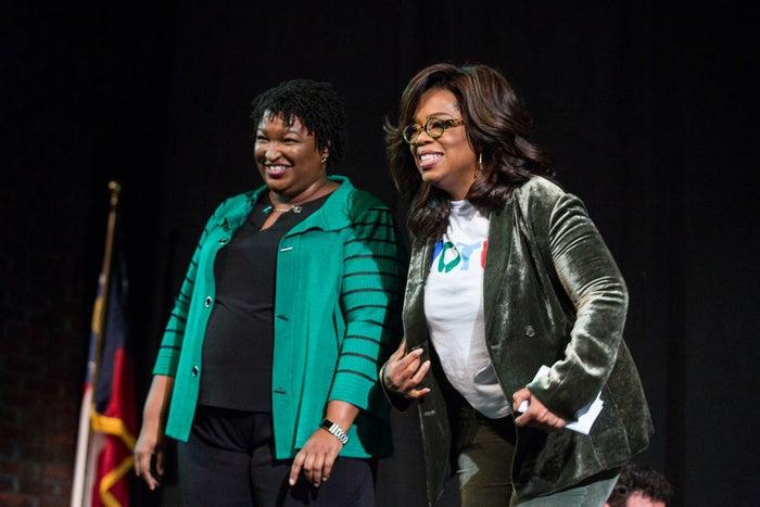 Stacey Abrams and Oprah Winfrey.