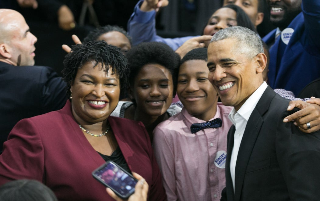 Barack Obama and Georgia Democratic gubernatorial candidate Stacey Abrams