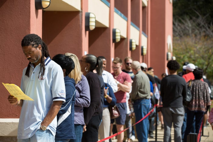 Early voters in Marietta, Georgia.