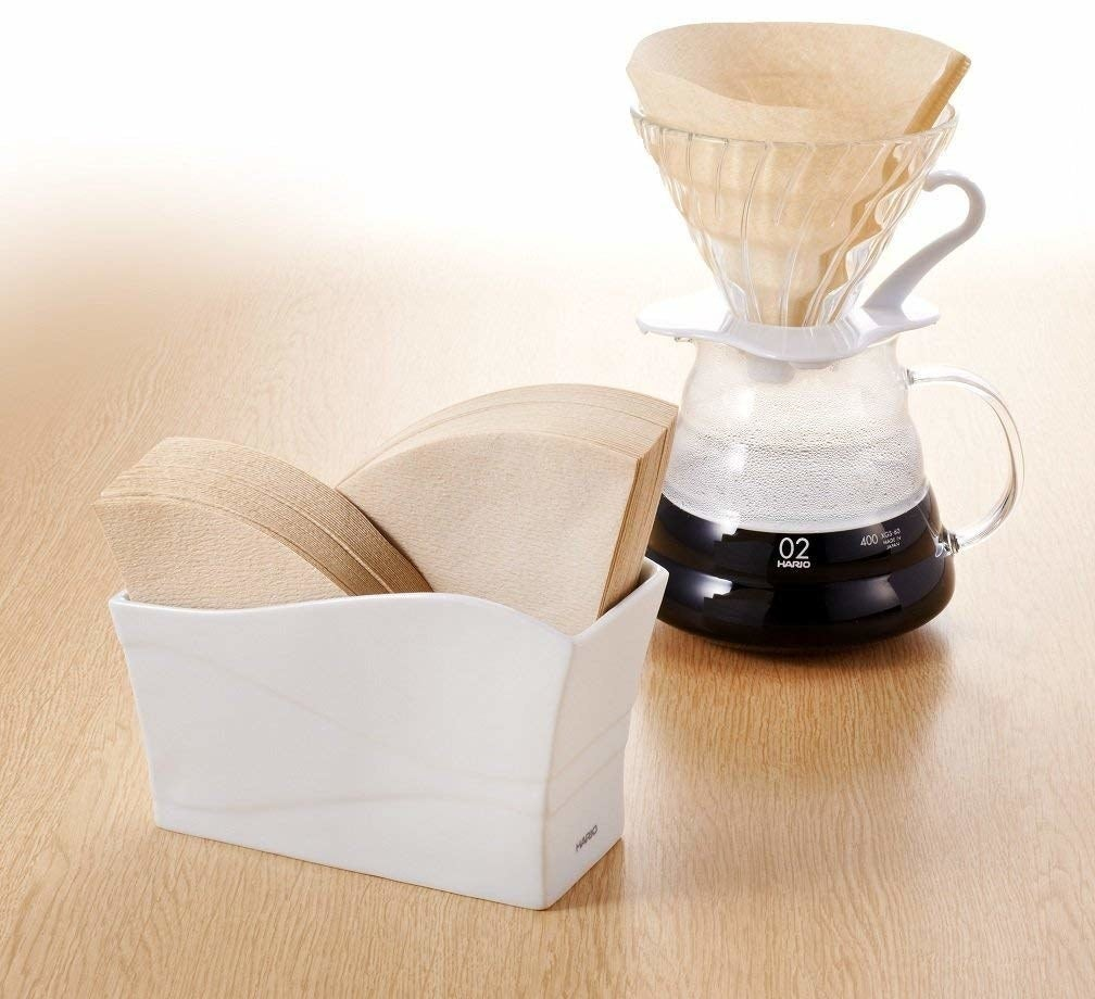 narrow holder for pour over coffee filters