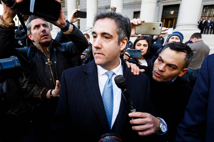 Michael Cohen, President Donald Trump's former personal lawyer, leaves federal court after pleading guilty to charges related to lying to Congress, in New York City, on Nov. 29.