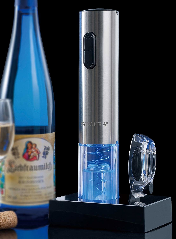 Closeup of the wine opener