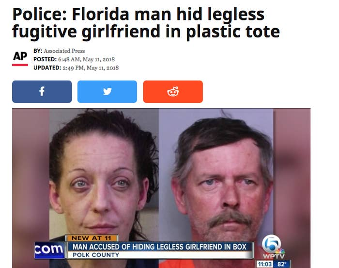 Best Florida Man Headlines 2020 The 40 Most Insane Things That Happened In Florida In 2018
