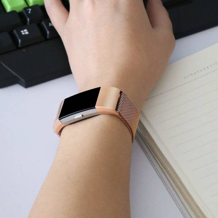 1 A Flashy Fitbit Band Thatll Keep Theirs From Looking Too Much Like Wearable Tech
