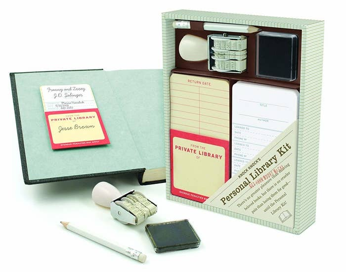 23 A Personal Library Kit For Generous Book Lenders Who Definitely Want To Get Their Novels Back Using That Stamp Is Going Be So Satisfying Guys