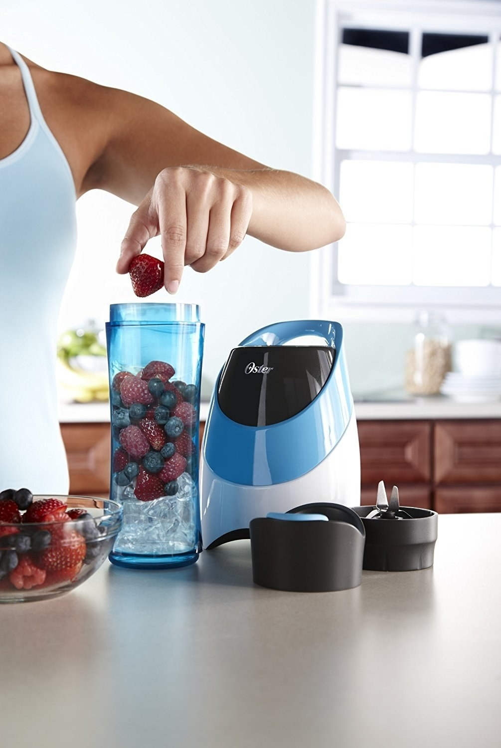 2179880906 A personal blender with a handy to-go bottle to help lighten the workload  of the person who ~just can t~ until they ve had their morning smoothie.