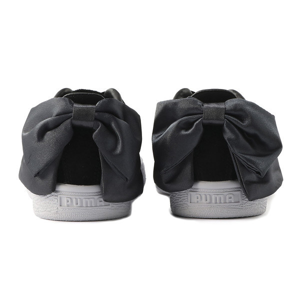A Pair Of Suede Sneakers With Satin Bow On The Back That Will Make Your Girly Girl Sister Scream Excitement