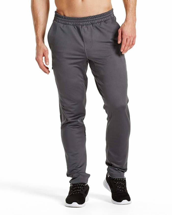 A Pair Of Mens Jogger Pants Designed With Material That Minimizes Sweat And Eliminates Odor Thatll Become Their New Go To Workout