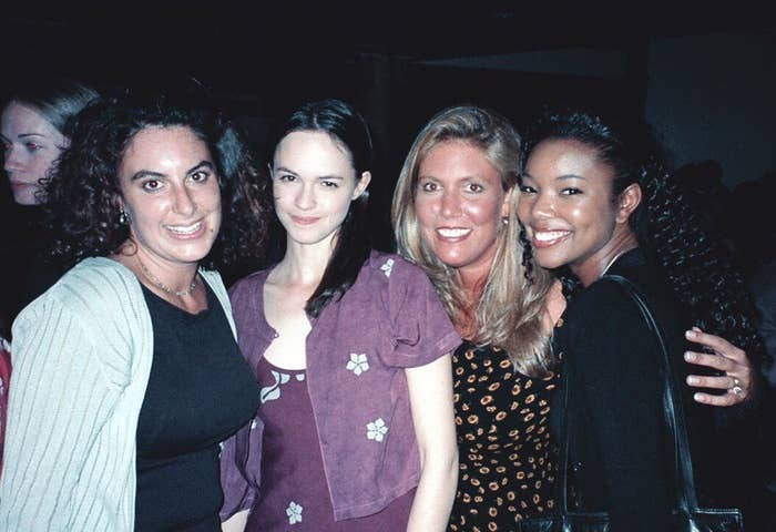 "Kirsten ""Kiwi"" Smith and Karen McCullah with 10 Things I Hate About You stars Susan May Pratt and Gabrielle Union."