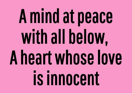 a heart whose love is innocent