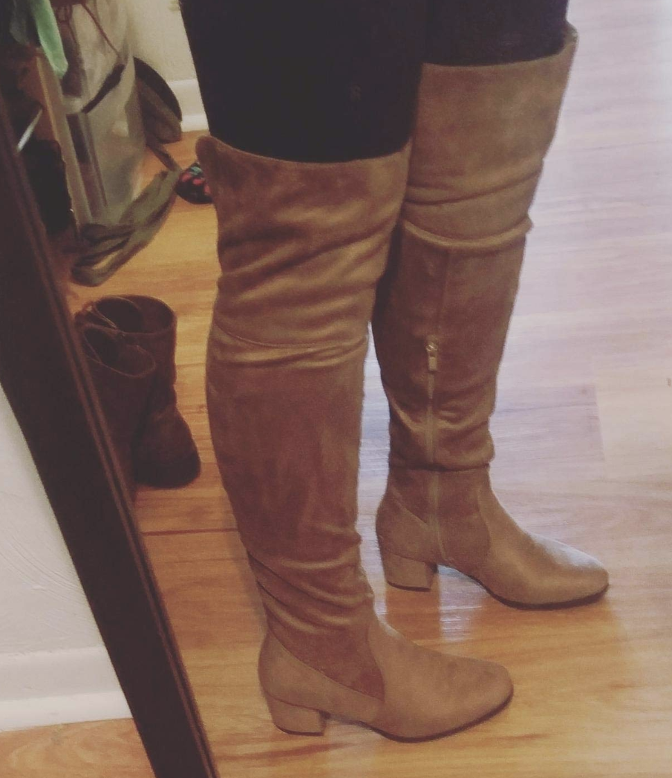 fc4b2d3cd0a35 A over-the-knee boot with a low heel that'll give Ariana Grande's boots a  run for their money. (And by that I mean all the money you didn't spend on  them.)