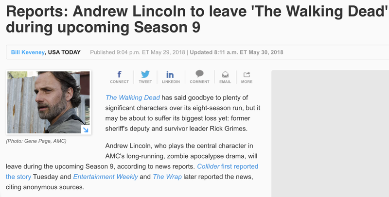 """Lincoln was only featured in the first five episodes of the season, ending with last night's installment, """"What Comes After."""""""