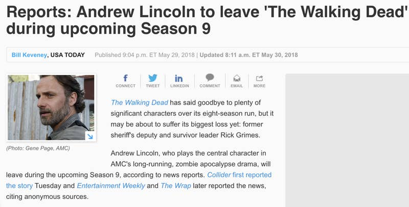 "Lincoln was only featured in the first five episodes of the season, ending with last night's installment, ""What Comes After."""