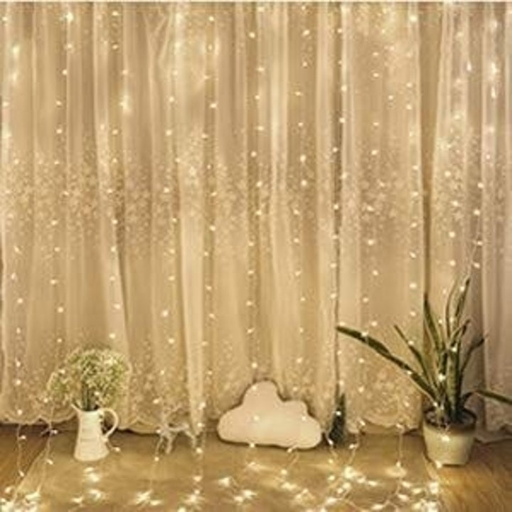 This String Light Curtain Is Perfect