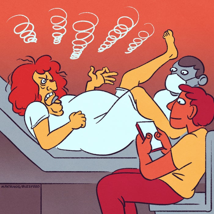 """15. Die Magie einer Schwangerschaft durchleben und dann begreifen, dass du ein Baby aus deiner Vagina drücken wirst, während dein*d Partner*in einfach nur ... zusieht. 16. Einen Ersatztampon vergessen haben, wenn du irgendwo in der Öffentlichkeit unterwegs bist.17. UND FÜR DIE VERFLUCHTEN TAMPONS MEHR STEUERN ALS FÜR SCHNITTBLUMEN ODER KAVIAR ZAHLEN MÜSSEN.18. Sowieso ganz allgemein für Tampons/Binden zahlen müssen. Der Scheiß ist teuer.19. Und wenn wir schon dabei sind: jeden Monat für Verhütung, Binden, Slipeinlagen, Schmerzmittel usw. zahlen müssen.20. Dir selber die Qual antun, dich da unten zu rasieren/zu wachsen weil die Gesellschaft sagt, du solltest das.21. Aber dann sagen """"Scheiß drauf!"""" und tun, was dir verdammt nochmal passt. 22. Wenn du mit jemanden im Bett (oder sonstwo) landest, der keine Ahnung vom Konzept des Vorspiels hat.23. Und wenn er denkt, dir irgendwas ohne genug Schmiere da hochzuschieben, wäre in Ordnung."""