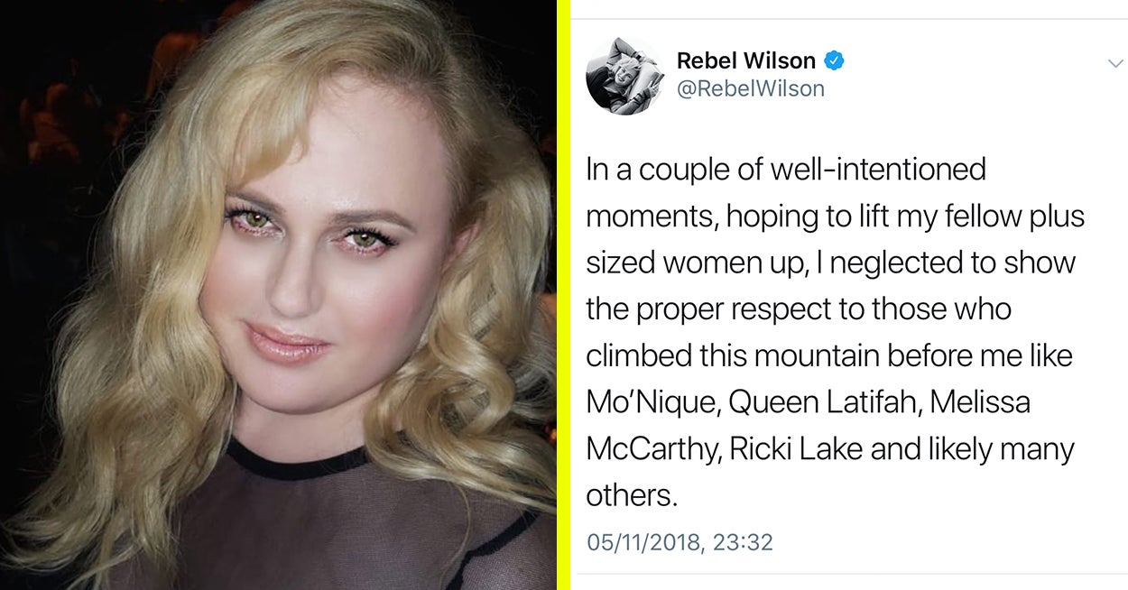 f11dbe13e43 Rebel Wilson Apologised For Saying She s The First Plus-Size Woman To Star  In A Rom-Com