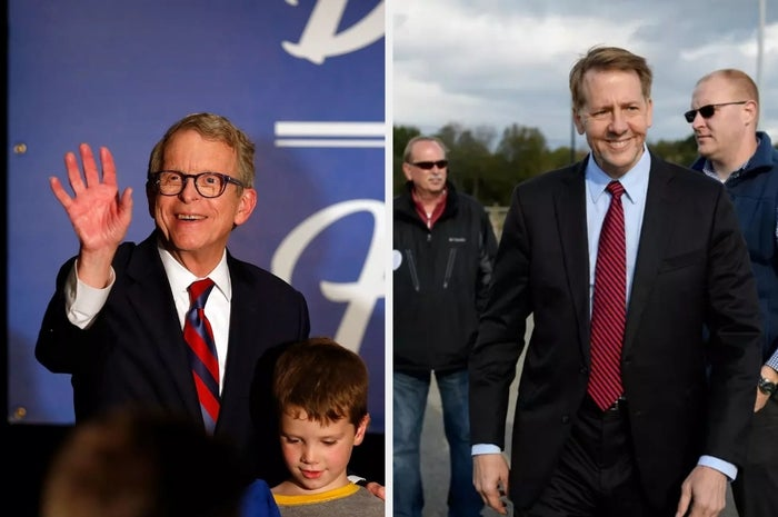 Ohio gubernatorial candidates Republican Mike DeWine (left) and Democrat Richard Cordray (right)
