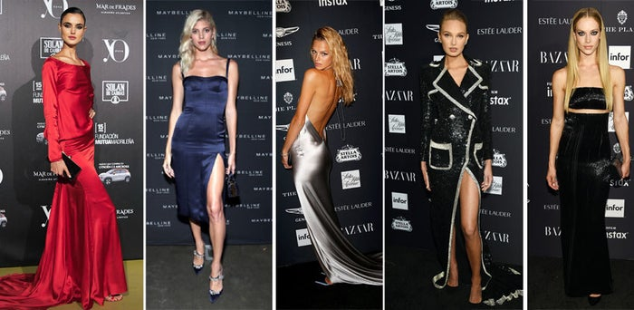 From left to right, these are Angels Blanca Padilla, Devon Windsor, Nadine Leopold, Romee Strijd, and Hannah Ferguson.