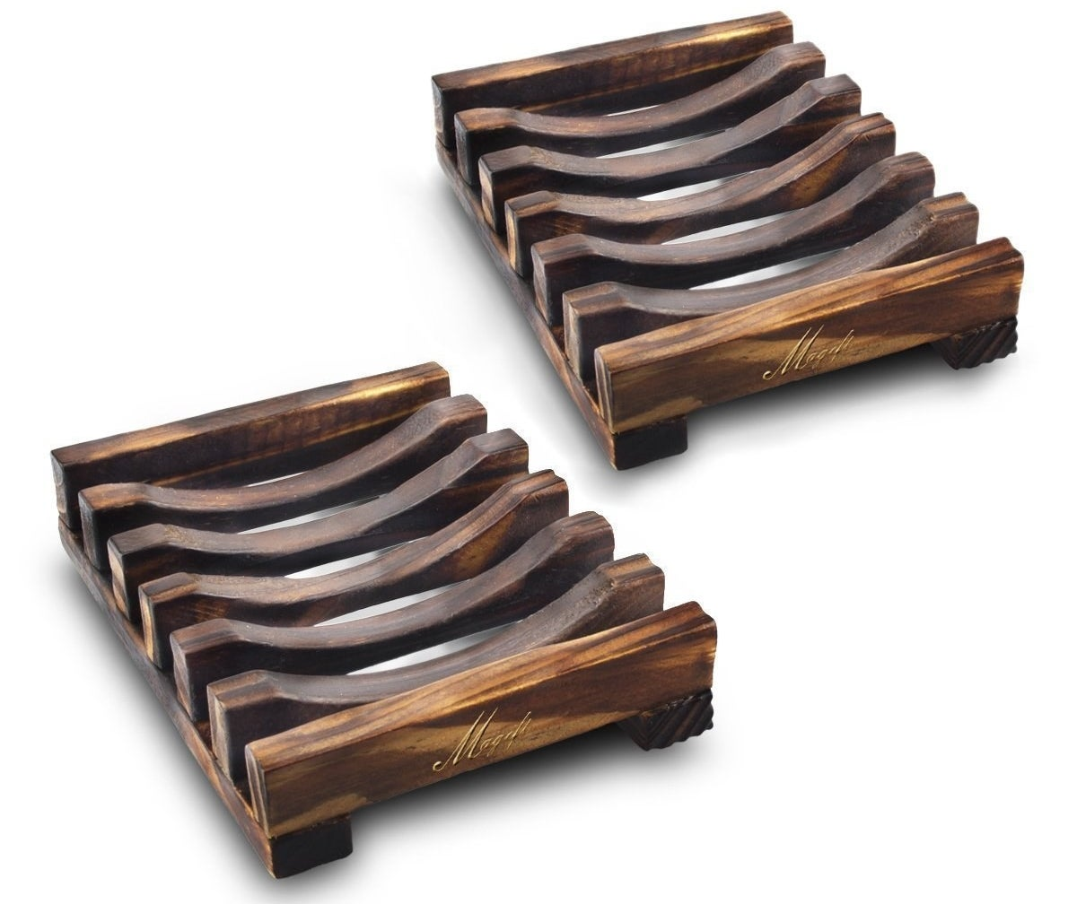 wooden slatted soap dishes