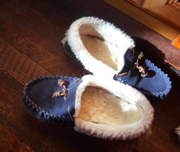 """Promising review: """"Nice quality shearling insoles. I have LL Bean house moccasins which are several years old and I just place a new insole into them each year. These are very nice and make my lovely old moccasins feel like new again. I've been using them every day since I got them last November and so far they are holding up very well."""" —Bianca K.Get them from Amazon for $12.99+ (available in sizes 6W–14M)."""