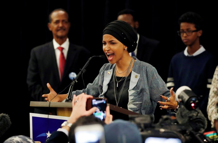 Ilhan Omar of Minnesota will be one of the first two Muslim American women in Congress, along with Michigan's Rashida Tlaib, who was also elected to the House.