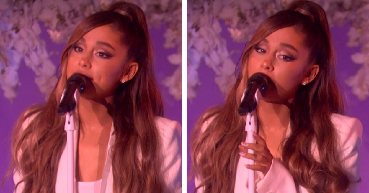 Buzzffed Best Of Ariana Grande: Ariana Grande Got Emotional During Her First Live