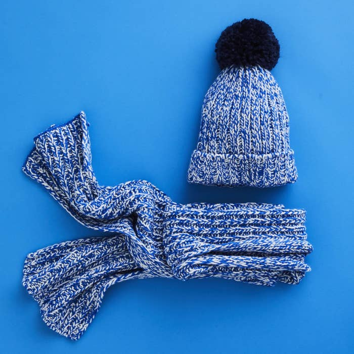 Get the scarf here for $29.50 and the beanie here for $19.50.