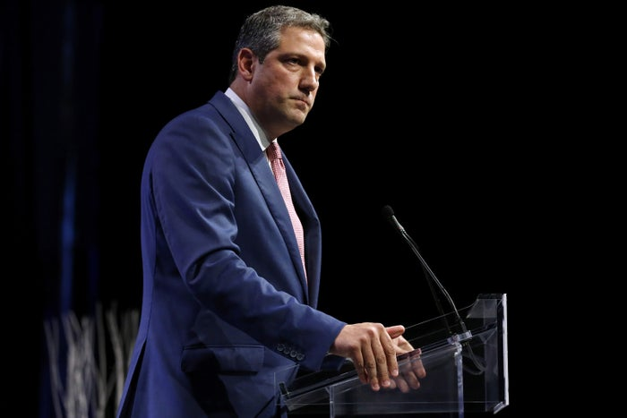 Rep. Tim Ryan speaks at the Netroots Nation conference for political progressives in New Orleans, Aug. 4, 2018.
