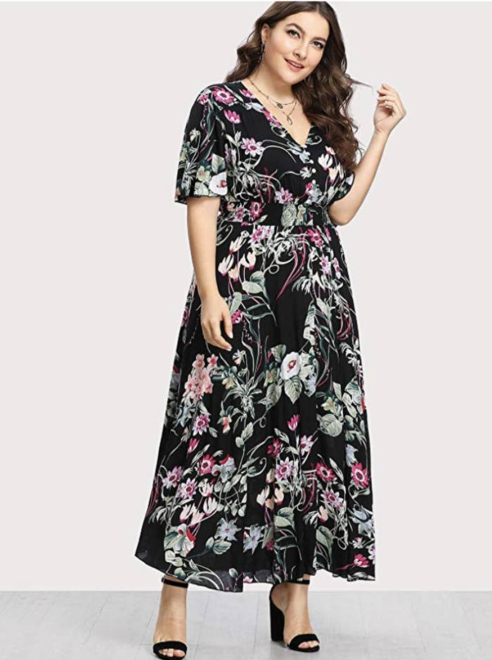 1671784b05 A super-chic maxi dress you can wear to a holiday party and look amazing in  without overheating. (Side note: Why do holiday parties always end up  feeling ...