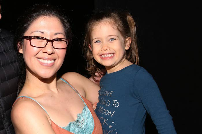 Ruthie Ann Miles with her daughter, Abigail, in 2017.