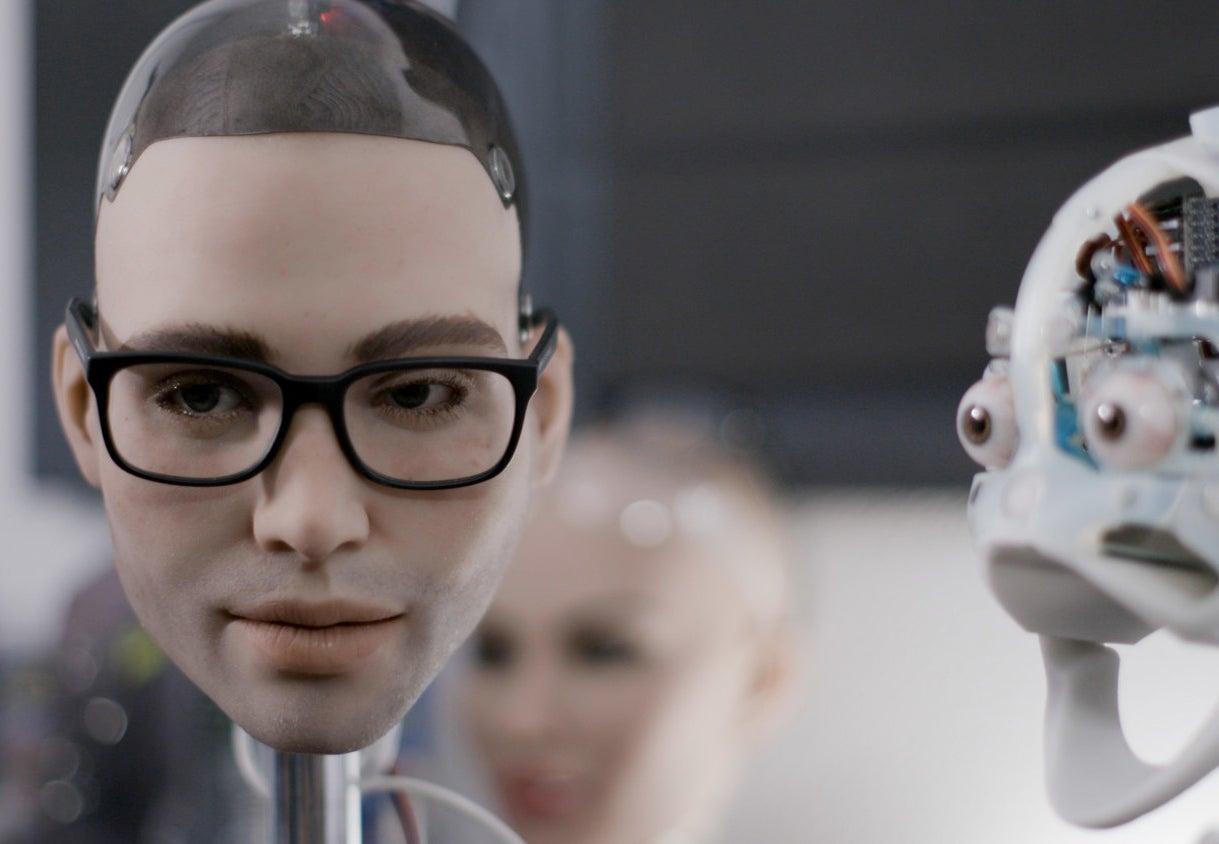 """Henry,"" a Realbotix sex robot in development."